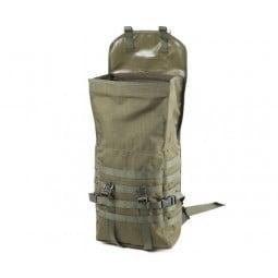 Savotta Jäger Mini Rucksack grün Gesamtansicht Deckel offen
