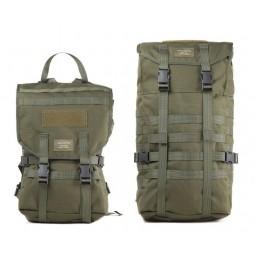Savotta Jäger Mini Rucksack Vergleich Deckel auf verschiedenen Höhen geschlossen