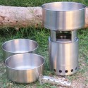 Solo Stove 3 Pot Set zusammen mit Holzofen