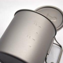 Toaks Light Titanium 650 - mit eingeprägter Maßskala