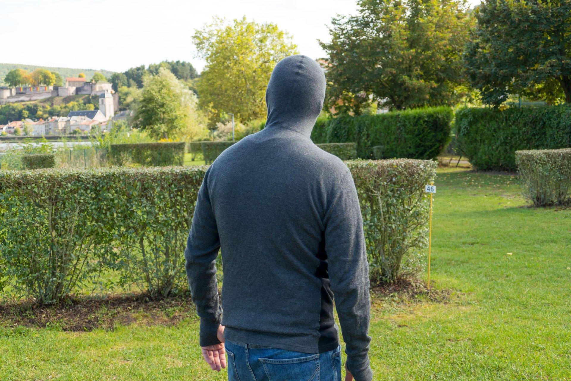 Rückansicht vom Warmwool Hooded Sweater