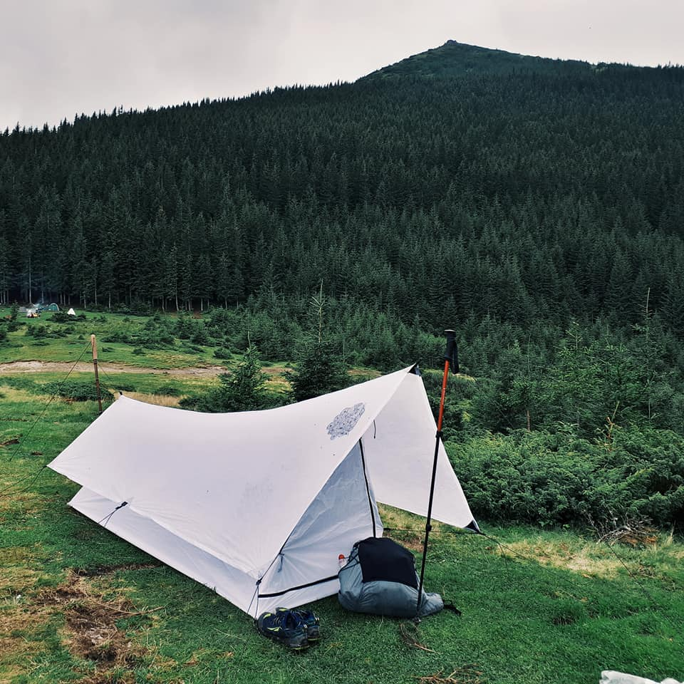 Liteway Simplex Shelter und Tarp im Einsatz