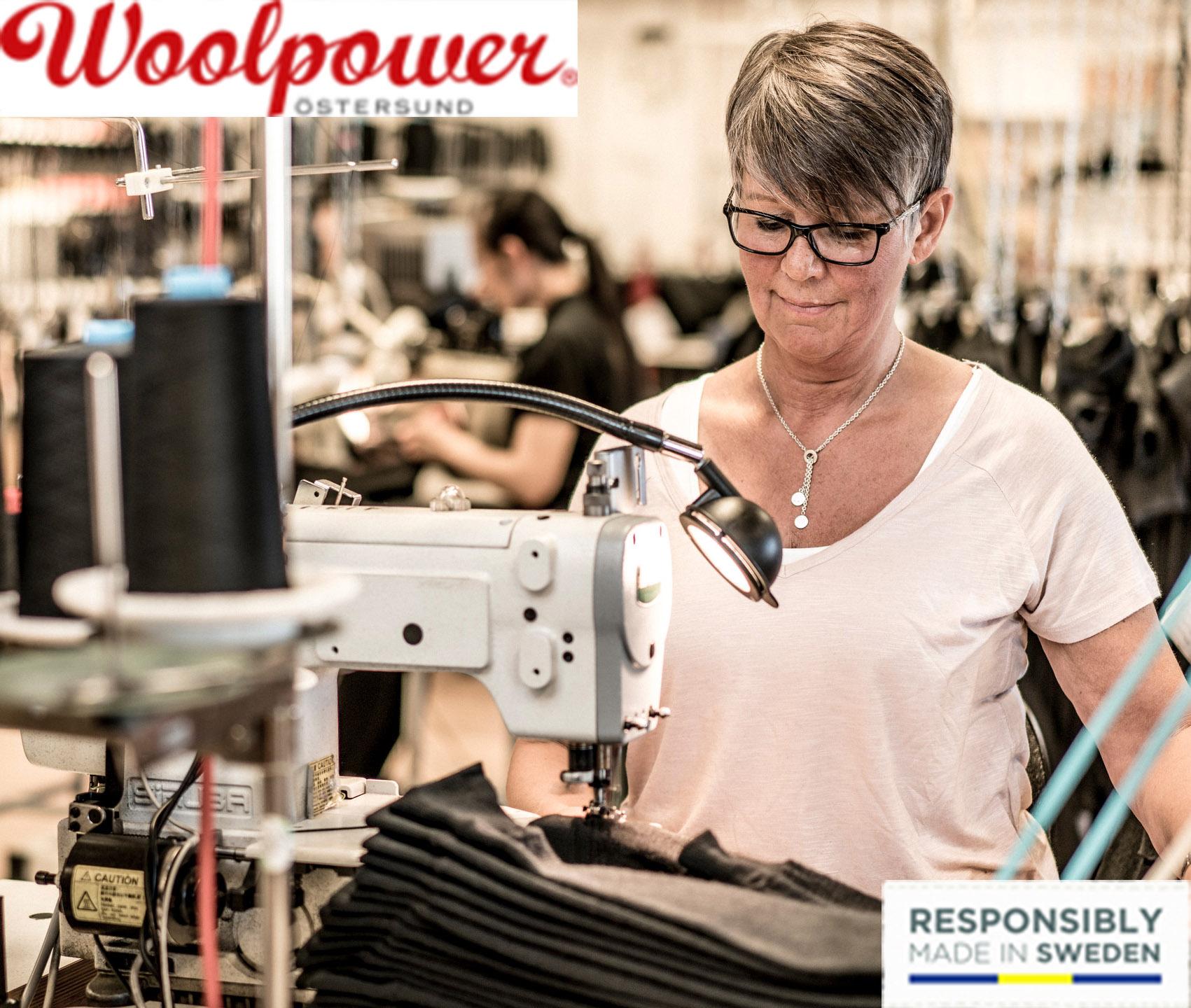 Woolpower Mitarbeiterin bei der Arbeit