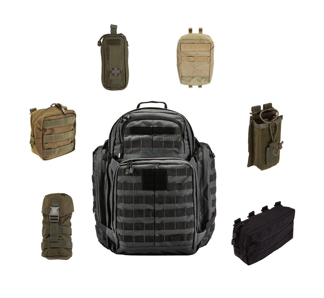 5.11 Molle Rucksack mit diversen Zusatztaschen