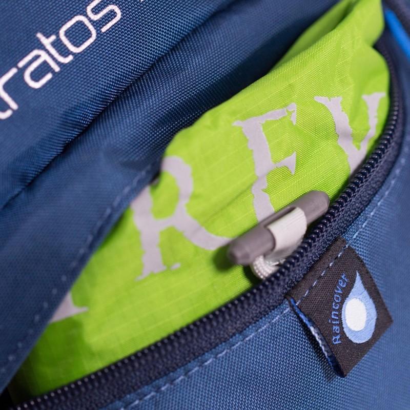 Integrierte Regenhülle bei einem Osprey Rucksack