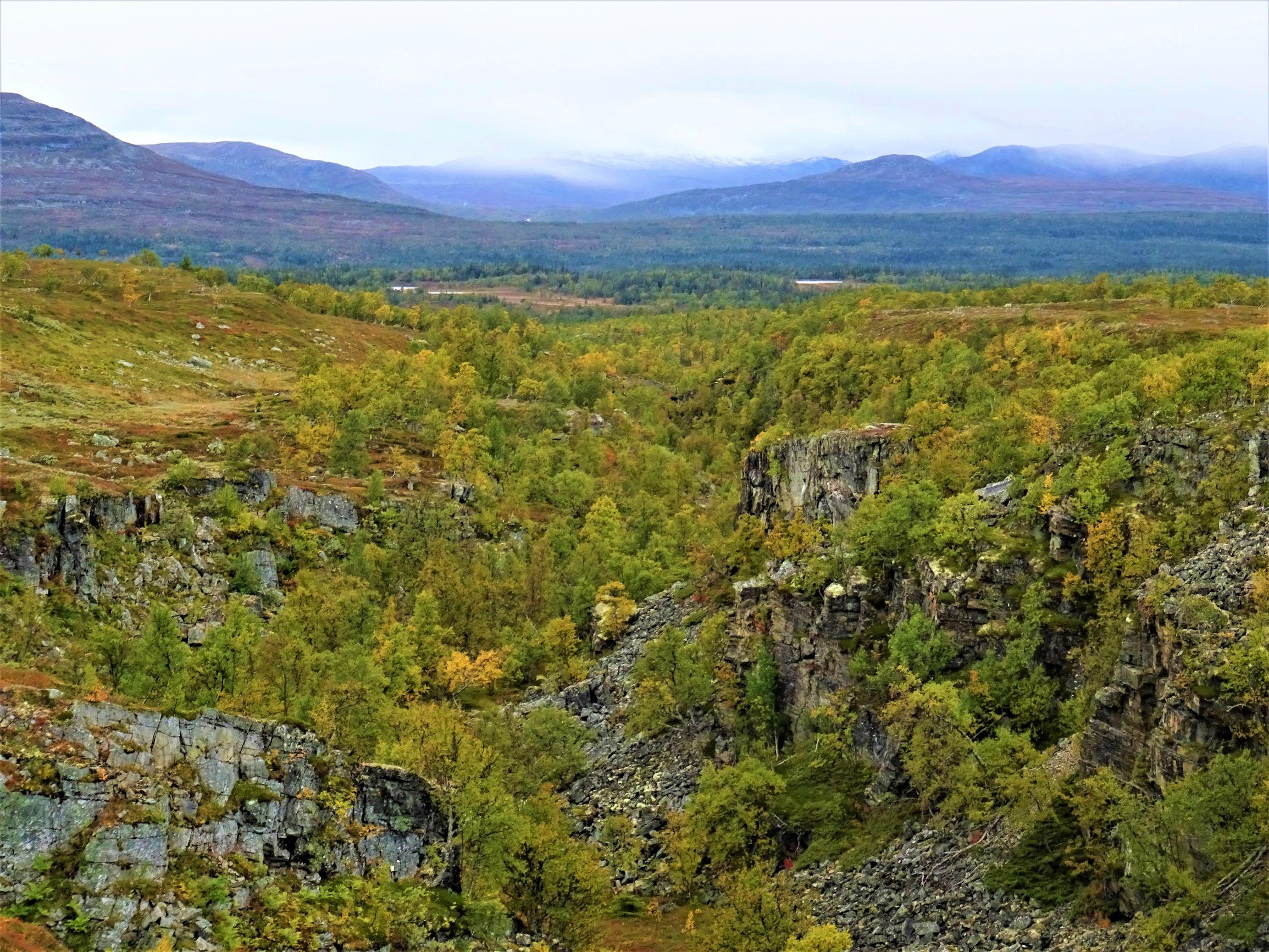 Jämtlands Bergwelt im Herbst