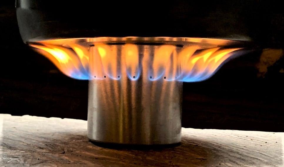 Sideburner im Einsatz