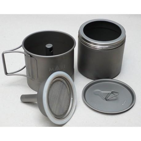 Espressokanne aus Titan