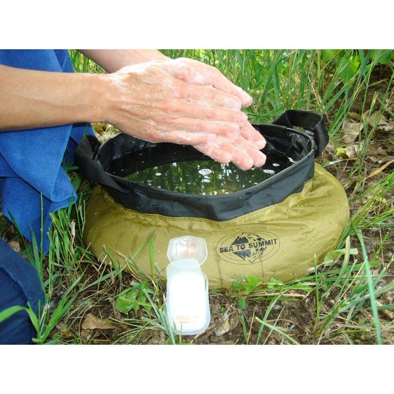Biologisch abbaubare Seife im Einsatz