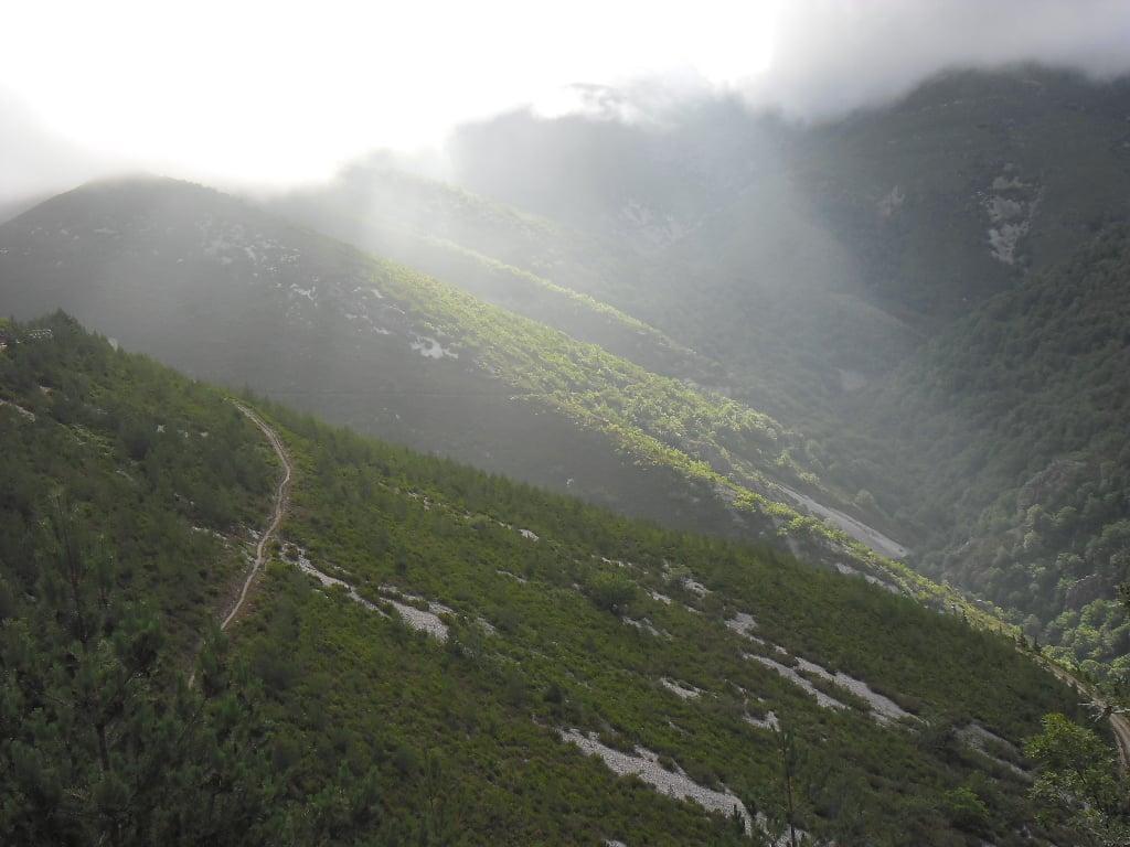 Morgendliche Aussicht aud dem Camino Primitivo